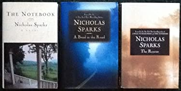 3 Books by Nicholas Sparks: The Notebook, A Bend in the Road, The Rescue