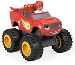 Collectable die-cast Blaze and AJ collectable figure and vehicle    Metal axles and thick racing tires for fast-rolling speed    Your child can collect them all    Each sold separately and subject to availability