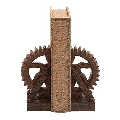 Industrial Gear Buchstützen, rustikal, antik, Steampunk, schickes Dekor, 2 Stück
