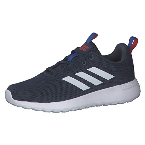 adidas LITE Racer CLN K Running Shoe, Crew Navy FTWR White Vivid Red, 6.5 UK