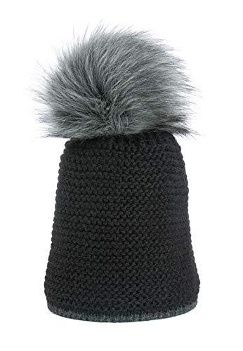 Enzianblau Damen Wintermütze mit warmen Fleece-Futter   Wintermütze   Beanie  ...