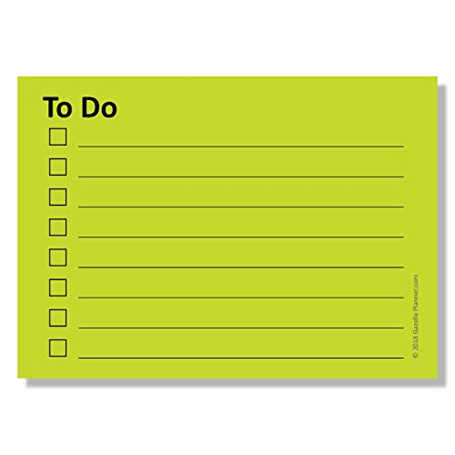 Sticky Notes with to-Do List Planner & Checklist with Lines - 4 Pads/Pack, 100 Sheets/Pad, (400 Total Sheets), Pastel Yellow (2.8 in x 4 in)