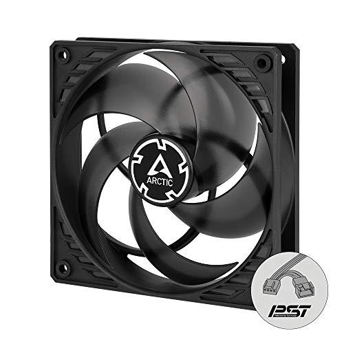 ARCTIC P12 PWM PST - 120 mm Ventilador de Caja para CPU con PWM Sharing Technology (PST), Motor Muy Silencioso, Computadora, 200-1800 RPM - Negro/Transparente