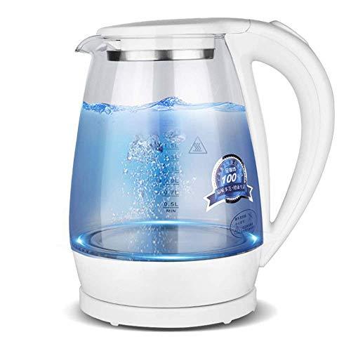 Hervidor eléctrico de vidrio, hervidor de control de temperatura 2.0l Luz LED, mantenga de caldera de agua inalámbrica, Auto apagado, 100% libre de BPA, hervidor de agua para café, té, espresso, 1500W