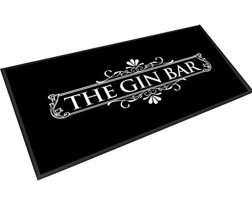 Artylicious il Gin Bar, Nero e Bianco Label Bar Runner Bar Mat