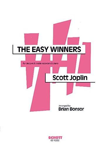 The Easy Winners: Sopran- und Alt-Blockflöte und Klavier. Partitur und Stimmen.