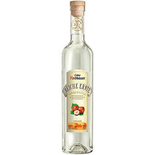 6 Flaschen Nordhäuser Reiche Ernte Haselnuss Brand 30% vol.