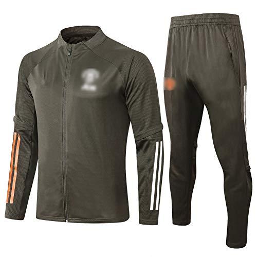 PUS 20 21 21 Manchester United Jacket Training Anzug, langärmeliger Sportkleidung Training Anzug Set, Outdoor Sports Herren Langgezeichnete Sportbekleidung (S-XXL) Black-XL