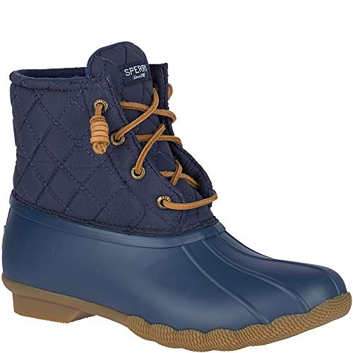 Sperry Top-Sider Saltwater Quilted Duck Boot Women 8 Navy