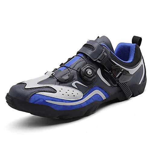 SERAPH Fahrradschuhe, Herren Damen Atmungsaktiv Rennradschuhe ohne Klicksystem Spinning Schuh mit Weichen Inneren Pad für Radfahren Mountain Road Biking,Blau,41 EU