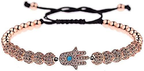 zhuangpuxu Necklace Necklace Luxury Jewelry Zircon Balls Hand Bracelet Men Macrame Copper Beads Braided Bracelets for Women Men Gift