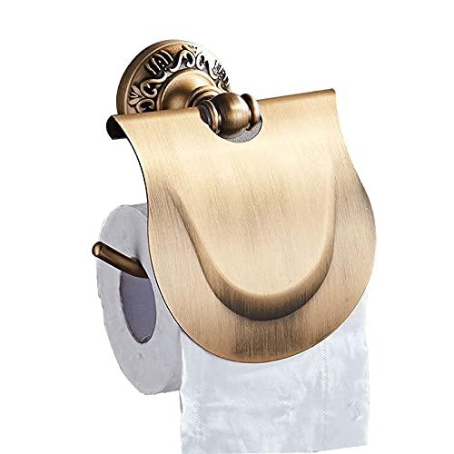 Riyyow Soporte de Papel higiénico, Soporte de Rollo Montaje de Pared con Tornillos Tenedor de Papel higiénico para baño Cocina - Empresa Impermeable Imitación de Cobre