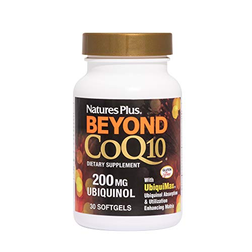 Nature's Plus Beyond CoQ10-200 mg Ubiquinol, Easy to Swallow Softgels - High Potency, High Absorption Supplement, Antioxidant (30)