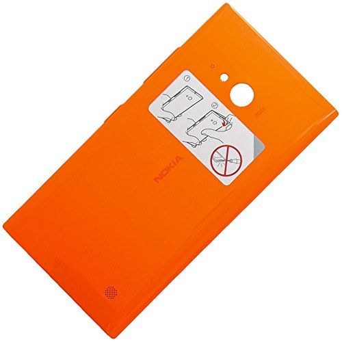 Copribatteria originale per Nokia Lumia 730, colore arancione, scocca posteriore