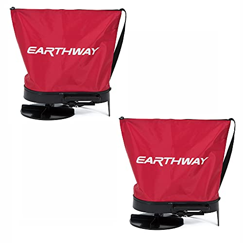 Earthway 2750 Hand Crank Garden Seeder Adaptable Fertilizer Spreader (2 Pack)