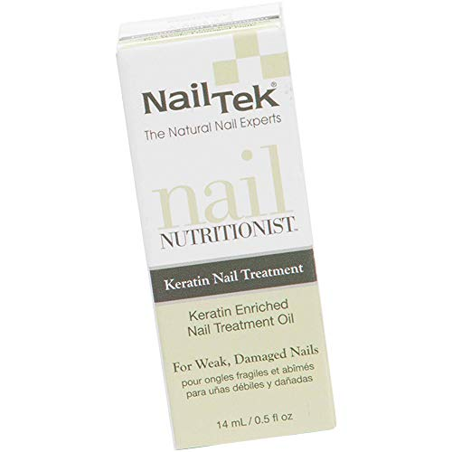 Nail Tek Nail Nutritionist, Keratin Enriched Nail Treatment Oil for Weak and Damaged Nails, 0.5 oz, 1-Pack