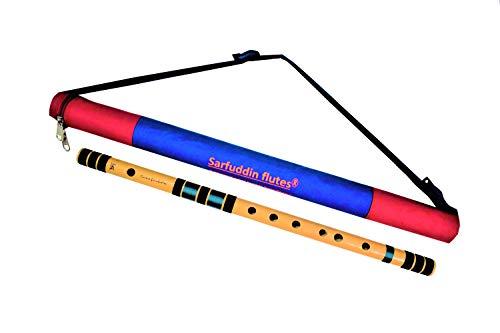 Sarfuddin flutes, Scale C Natural Medium, Premium Quality (Right Handed) 19 Inches Bamboo Flute/Bansuri.