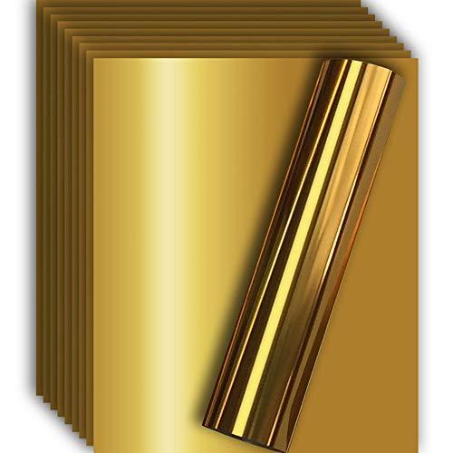 Gold Metallic Foil HTV Heat Transfer Vinyl for Tshirt and Apparel 12