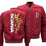 Sweat-Shirt pour Hommes Bomber Jacket Scania Print Casual Flight Suit Épaissir Coupe-Vent Survêtement Zip Vestes Tops Teen Gift