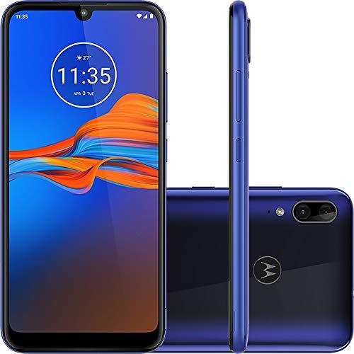 """Smartphone Motorola Moto E6 Plus Azul Netuno 32GB, Tela Max Vision de 6.1"""", Câmera Traseira Dupla, Android 9.0, Processador Octa-Core e 2GB de RAM"""