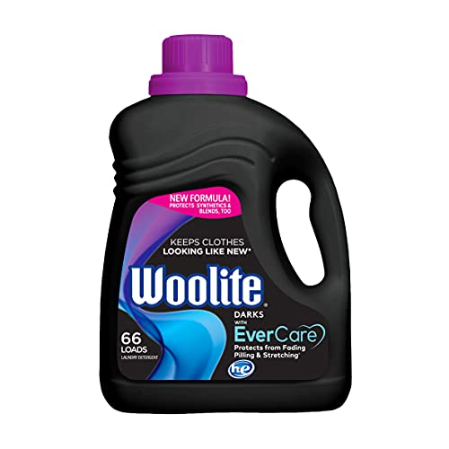 Woolite All Darks Liquid Laundry Detergent 66 Loads, 100 Fl Oz (Pack of 1), Packaging May Vary