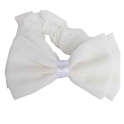 JUSTFOX - Schleife Haargummis in weiß