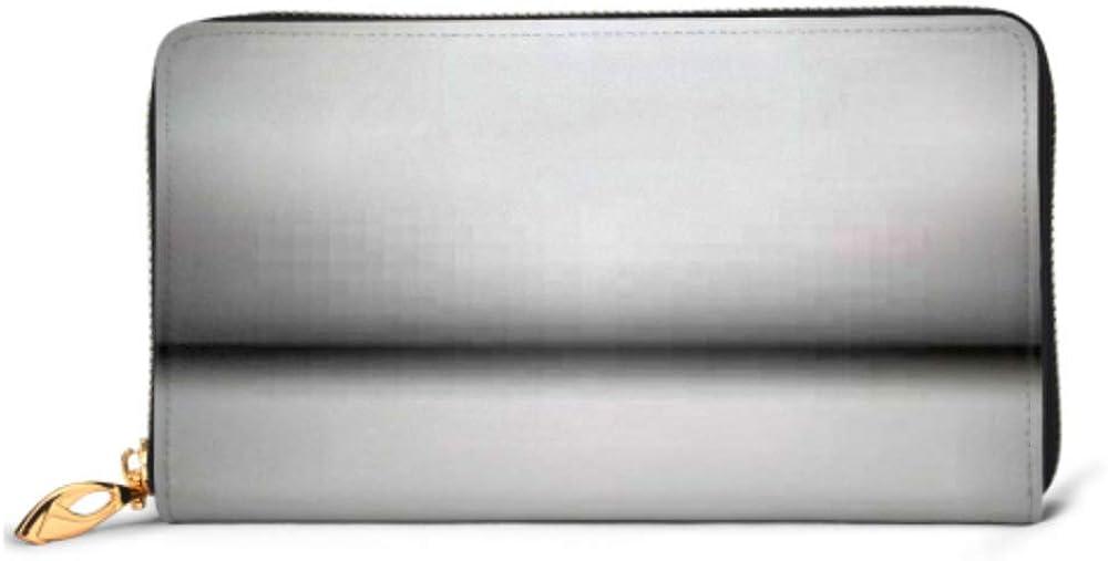 Fashion Handbag Zipper Wallet Minimal Clean Gradient Light White Blank Phone Clutch Purse Evening Clutch Blocking Leather Wallet Multi Card Organiz