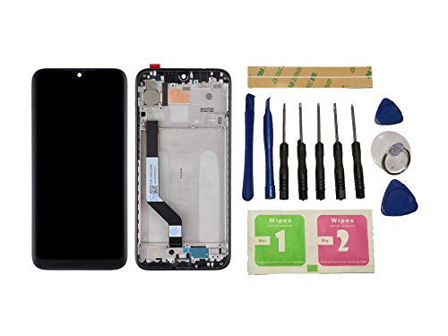 Flügel für Xiaomi Redmi Note 7 / Redmi Note 7 Pro Display LCD Ersatzdisplay Schwarz Touchscreen Digitizer Bildschirm Glas Komplett Einheit mit Rahmen Ersatzteile & Werkzeuge & Kleber