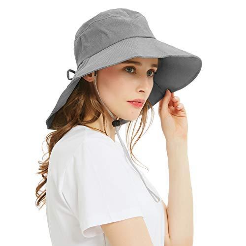 EINSKEY Sonnenhut Damen UV Schutz Fischerhut Gartenhut Faltbar Breite Krempe Safari Bucket Hat