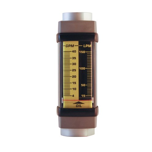 Hedland Flow Meters (Badger Meter Inc) H761A-040 - Flow Rate Hydraulic Flow Meter - 40 gpm Max Flow Rate, SAE-16 1 NPTF in Port Size