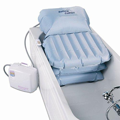 Mangar Komfort-Badekissen mit Rückenstütze grau
