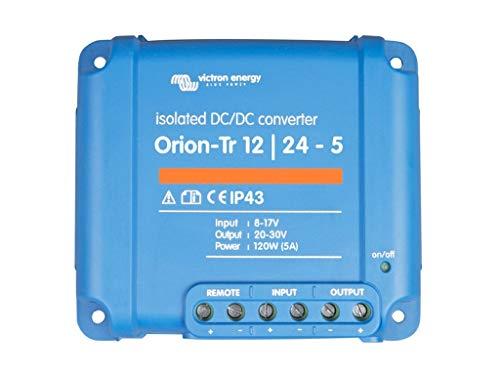 Victron Energy ORI122410110 Orion-TR 12/24-5A 120 W Isolated DC Convertidor, De 12 a 24 V-5A (120W)