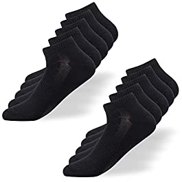 Falechay Trainer Ankle Socks Men 10 | 6 Pair Low Cut Sport Short Socks Ladies Cotton Breathable