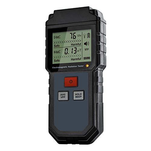 JVSISM Probador De Radiación De Campo Electromagnético Medidor Emf Contador Portátil Dosímetro Digital Detector Lcd Medición Para Teléfono De Computadora