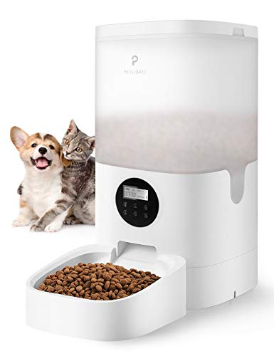 PETLIBRO Automatic Cat Feeder, 6L Auto Pet Dry Food Dispenser with Desiccant Bag, Portion Control 1-4 Meals per Day & 10s Voice Recorder for Small & Medium Pets