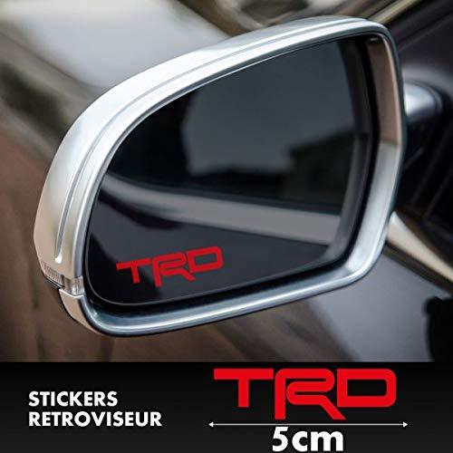 myrockshirt 2X TRD Logo Außenspiegelaufkleber Aufkleber,Sticker,Decal,Autoaufkleber,UV&Waschanlagenfest,Profi-Qualität