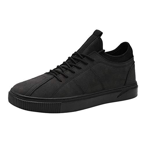 JFHGNJ Verkoop Mannen s Casual Comfortabele Ademend Schoeisel Mode Outdoor Schoenen Sneakers voor Mannen Streetwear-Black_43_0
