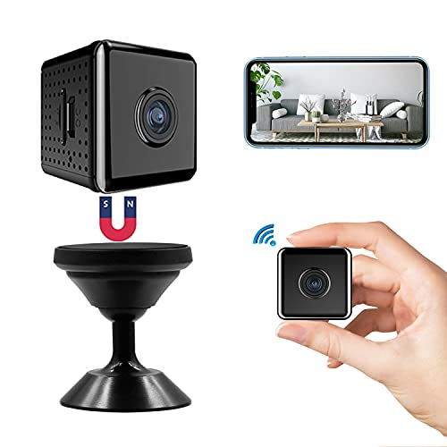 Mini WiFi Hidden Camera HD 1080P Spy Camera, 2021 Upgraded Wireless APP Remote Nanny Cam with Video Live Feed, Night Vision & Motion Detection Cam for Home Car Indoor Outdoor