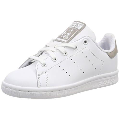 adidas Stan Smith, Scarpe da Fitness Unisex-Bambini, Bianco (Ftwbla/Ftwbla/Ftwbla 000), 30.5 EU