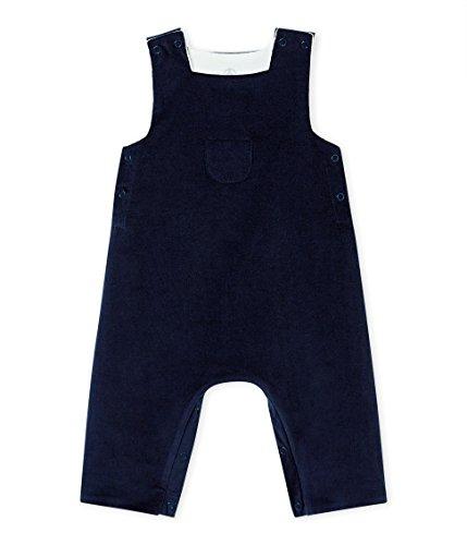 Petit Bateau Baby-Jungen Salopette Longue_4408303 Latzhose, Blau (Smoking 03), 62 (Herstellergröße: 3M/60cm)