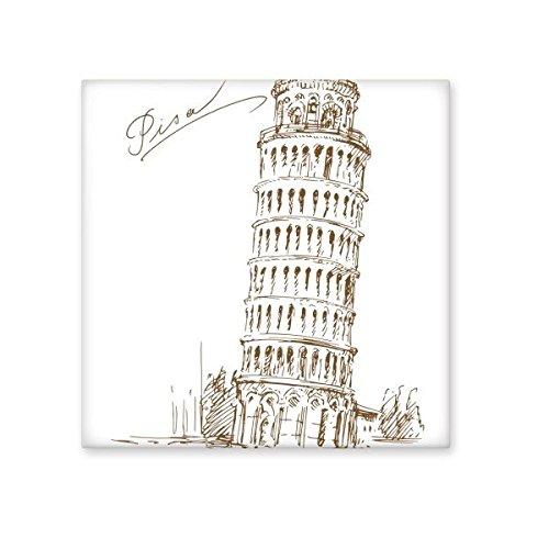 Torre inclinada de Pisa Italia Pisa Landmark patrón de cerámica crema decoración de decoración de azulejos para baño cocina azulejos de pared azulejos de cerámica