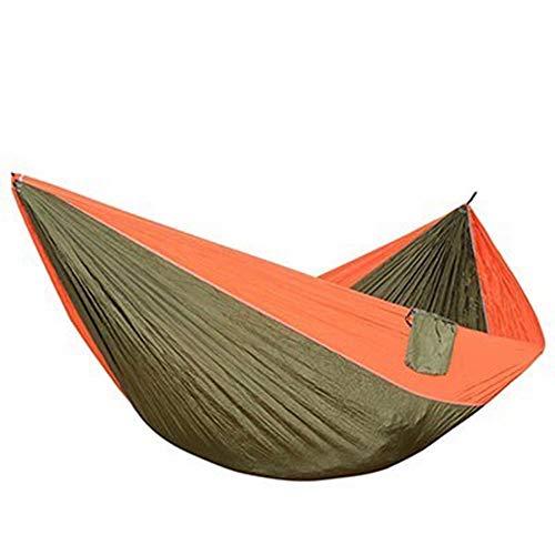 hamac CDFSG Suspension Légère De Hamac De Parachute pour Paddock De Plage De Survie De Camping Extérieur 320×200cm Orange Army Green