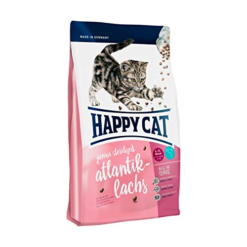 Happy Cat Supreme Junior Sterilised Atlantik-Lachs, 1.4 kg