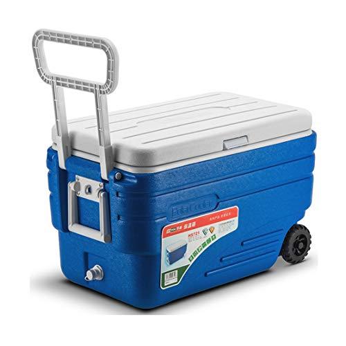 JCOCO 80L Deep Freeze Zipperless koelbox op wielen, krachtige bier-drankenkoelbox voor kamperen, barbecues, achterkleppen en outdoor-activiteiten