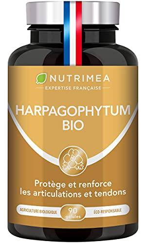 HARPAGOPHYTUM BIO - Renforcement articulation et cartilage - Soulage les douleurs articulaires - Protège le foie - Facilite la digestion - 1200 mg - 90 gélules vegan - Nutrimea - Fabriqué en France