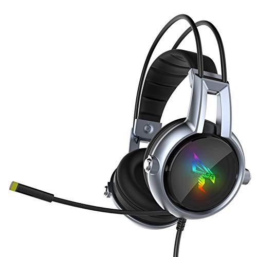 Auriculares EstéReo para Juegos Stereo Gaming Headset PC Game Headsets Computadora USB Esports 7.1 Motor De VibracióN Inteligente MicróFono TelescóPico De 180 ° Efecto De Subwoofer 3 Modos