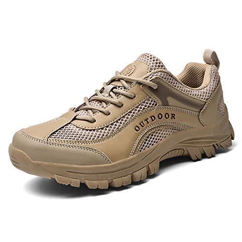 Aerlan Trainer Joggingschuhe,Calzado para Correr por la Calle,Zapatillas de Deporte Casuales para montañismo al Aire Libre de tamaño Masculino-Arena Color_49#