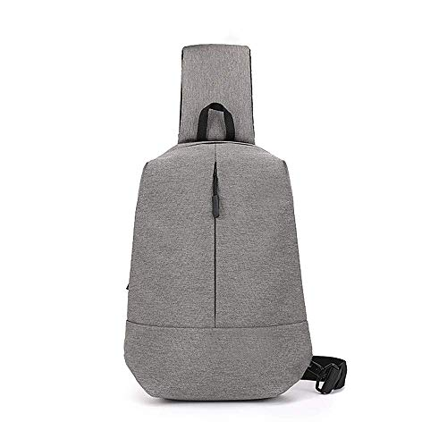 Schoudertas heren mini sporttas messenger tas studententas, grijs Fashion tas JYT