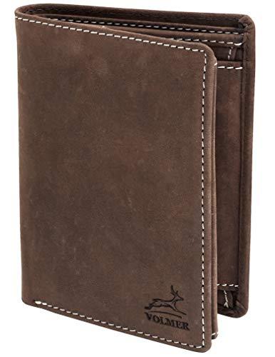 Fa.Volmer ® Herren Geldbörse aus Wild-Leder in Hochformat mit RFID Schutz Typ #VO14