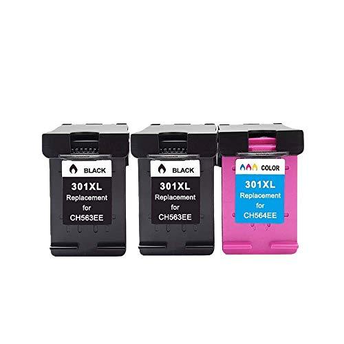 ZIJ Reemplazo 301XL for HP 301 XL Cartucho de Tinta HP301 for HP DeskJet 2050 1000 1050 2510 3000 3054 Envy 4500 4502 Impresora (Color : 2Black 1Color)